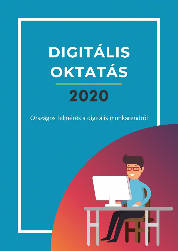 Az Országos Diáktanács tagjai és póttagjai által végzett, a tavaszi tantermen kívüli digitális munkarendről szóló Digitális Oktatás 2020 felmérés elemzésének borítóképe